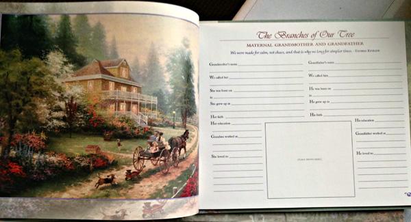 Thomas Kinkade's Our Family History (Inside)